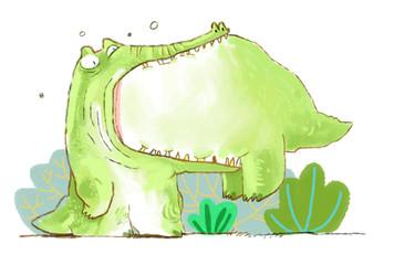 Crocodile eating crocodile