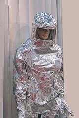 Asbestos protective suit
