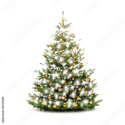 festlich geschm ckter weihnachtsbaum stock photo and royalty free images on pic. Black Bedroom Furniture Sets. Home Design Ideas