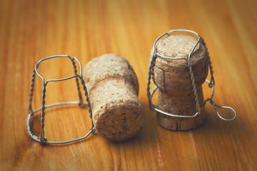 champagne corks. Vintage style