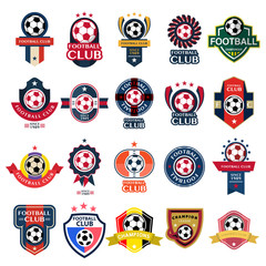 Set Soccer Football Badge and logo emblem designs,vector illustration