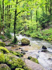 Waterfalls of Herisson in Jura France