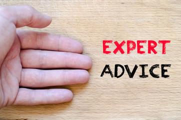 Expert advice text concept