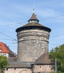 round tower in Nuremberg