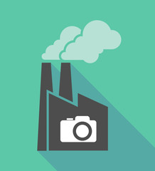 Factory icon with a photo camera