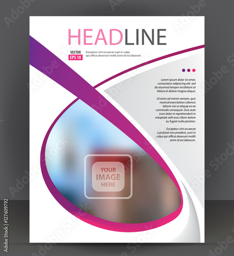 abstract flyer brochure cover layout design print template