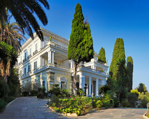 The Achilleion Palace in Corfu, Greece