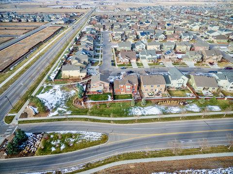 house development aerial view
