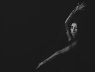 Portrait in black and white