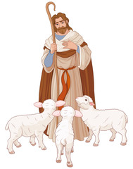 Canvas Prints Fairytale World The Good Shepherd