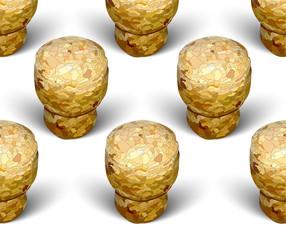 champagne cork checkerboard pattern white background