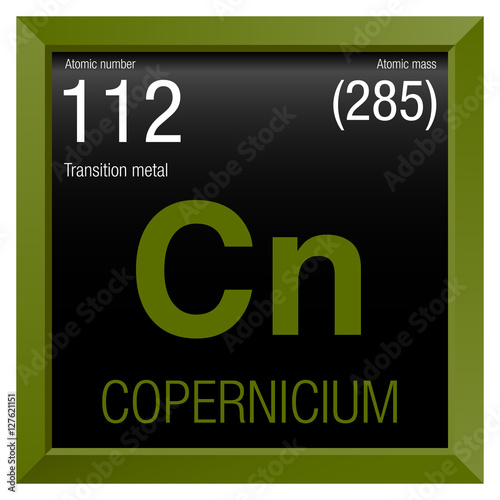Copernicium Symbol Element Number 112 Of The Periodic Table Of The