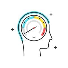 Color box icon, speedometer concept