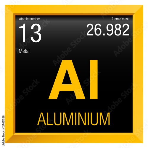Aluminium Symbol Element Number 13 Of The Periodic Table Of The