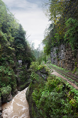 Railroad at the cliff