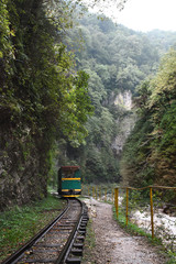 train in the gorge