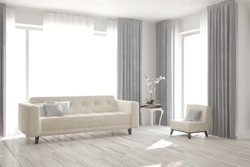 White room with sofa