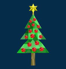 Polygon Christmas tree image