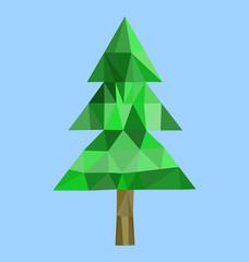 Polygon fur-tree image