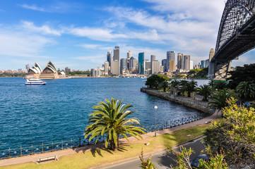 Wall Mural - Harbour Bridge, Opera and CBD from Kirribilli in Sydney, Austral