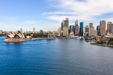 Fototapete - View of the Opera House and CBD in Sydney, Australia