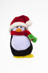 Penguin decoration in Santa hat