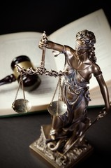 Law concept with Themis, symbol of justice