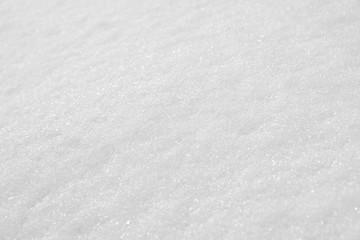 Closeup of freshly fallen snow