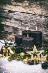 Weihnachten gold schwarz