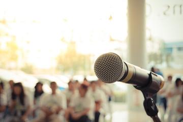 Microphone in seminar event