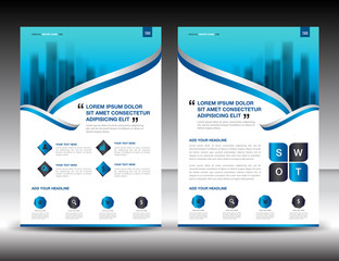 business brochure flyer template in A4 size, newsletter , poster