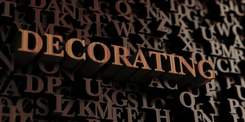 Decorating - Wooden 3D rendered letters/message.  Can be used for an online banner ad or a print postcard.