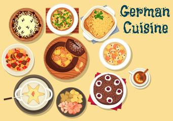 German cuisine festive christmas dinner icon
