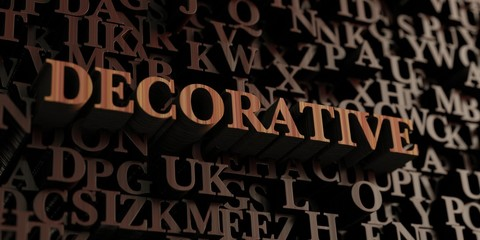 Decorative - Wooden 3D rendered letters/message.  Can be used for an online banner ad or a print postcard.