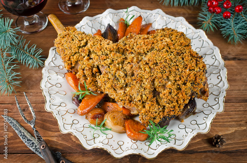 Leg Of Lamb In A Clementine Crust Recipe — Dishmaps