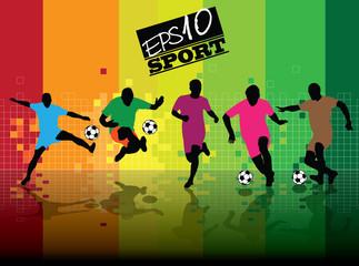 Soccer player, vector