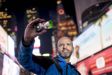 Man making a selfie