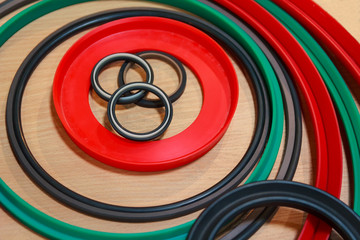 Various rubber products and sealing products at the exhibition s