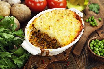 Cottage pie with meat