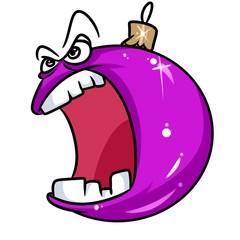 Christmas fury ball Christmas  cartoon illustration  character