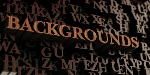 Backgrounds - Wooden 3D rendered letters/message.  Can be used for an online banner ad or a print postcard.