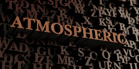 Atmospheric - Wooden 3D rendered letters/message.  Can be used for an online banner ad or a print postcard.