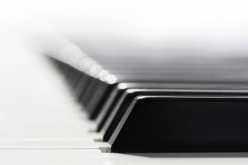 Close-up macro of a piano keys