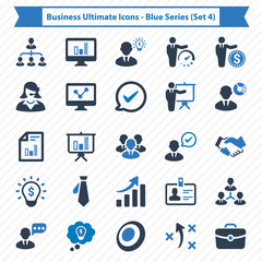 Business Ultimate Icons - Blue Series (Set 4)
