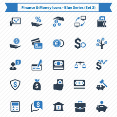 Finance & Money Icons - Blue Series (Set 3)