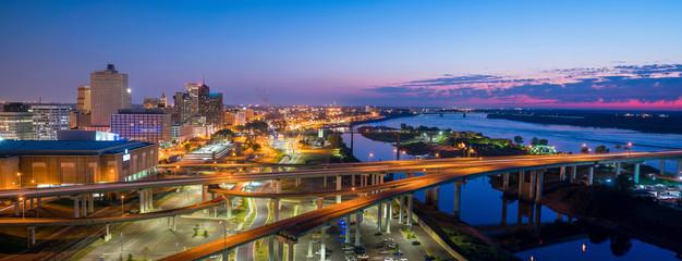 Fotomurales - Aerial view of downtown Memphis
