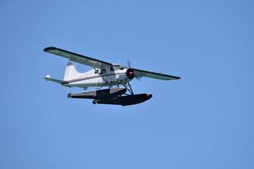 A sea or float plane in flight