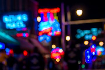 Blur shot of Beale street Fotomurales