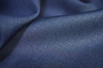 close up texture blue fabric of suit