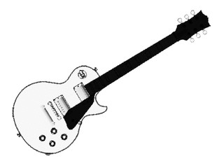 Halftone Electric Guitar